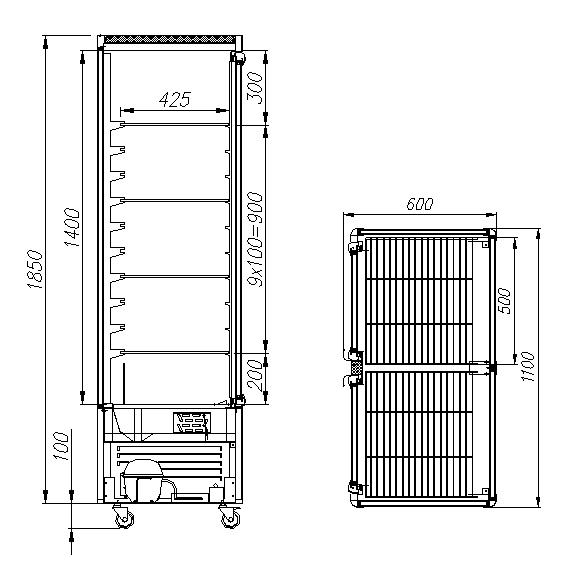 Кондитерская витрина CARBOMA R800C (D4 VM 800-1) - 1
