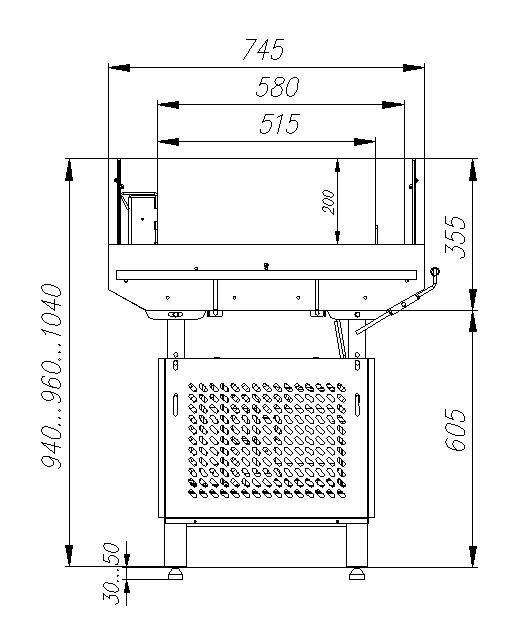 Холодильная витрина CARBOMA ODA PI07 VM0.9-29006 - 2
