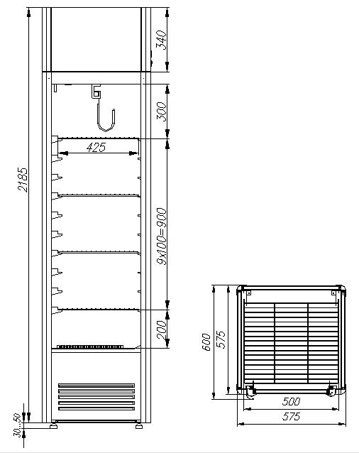 Холодильный шкаф CARBOMA D4 VM 400 HHC 9005 - 2