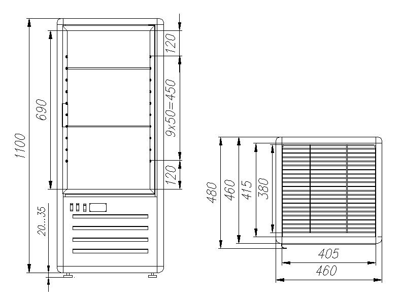 Кондитерская витрина CARBOMA R120C LATIUM (D4VM120-1) - 1