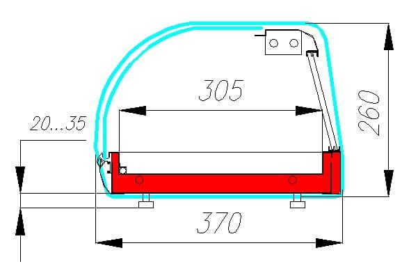 Холодильная витрина CARBOMA A37 SM 1.5-1 Sushi (ВХСв-1.5 суши-кейс) - 1