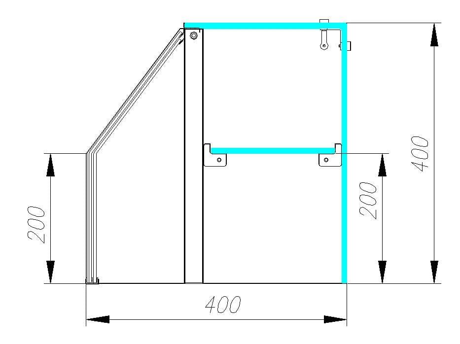 Нейтральная витрина CARBOMA OMI AC40N 1.5-11 - 3