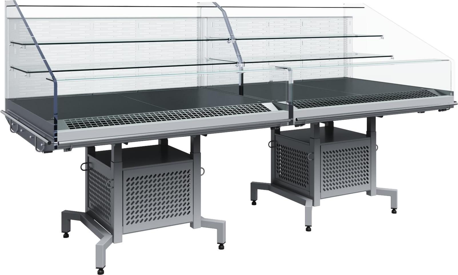 Холодильная витрина CARBOMA FUDZI PF11-13 VM1.25-29006 (средниймодуль) - 1