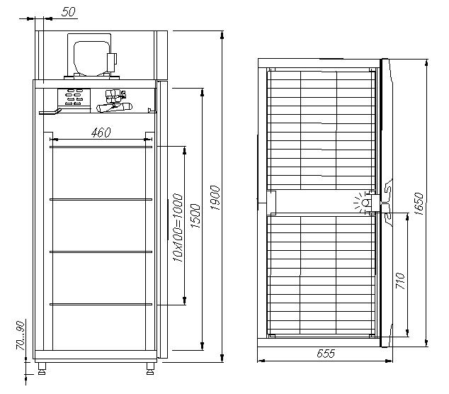 Холодильный шкаф CARBOMAR1120 INOX - 1