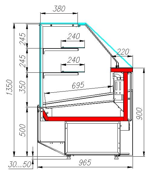 Нейтральная витрина CARBOMACASABLANCA KC95N1.5-1 - 3