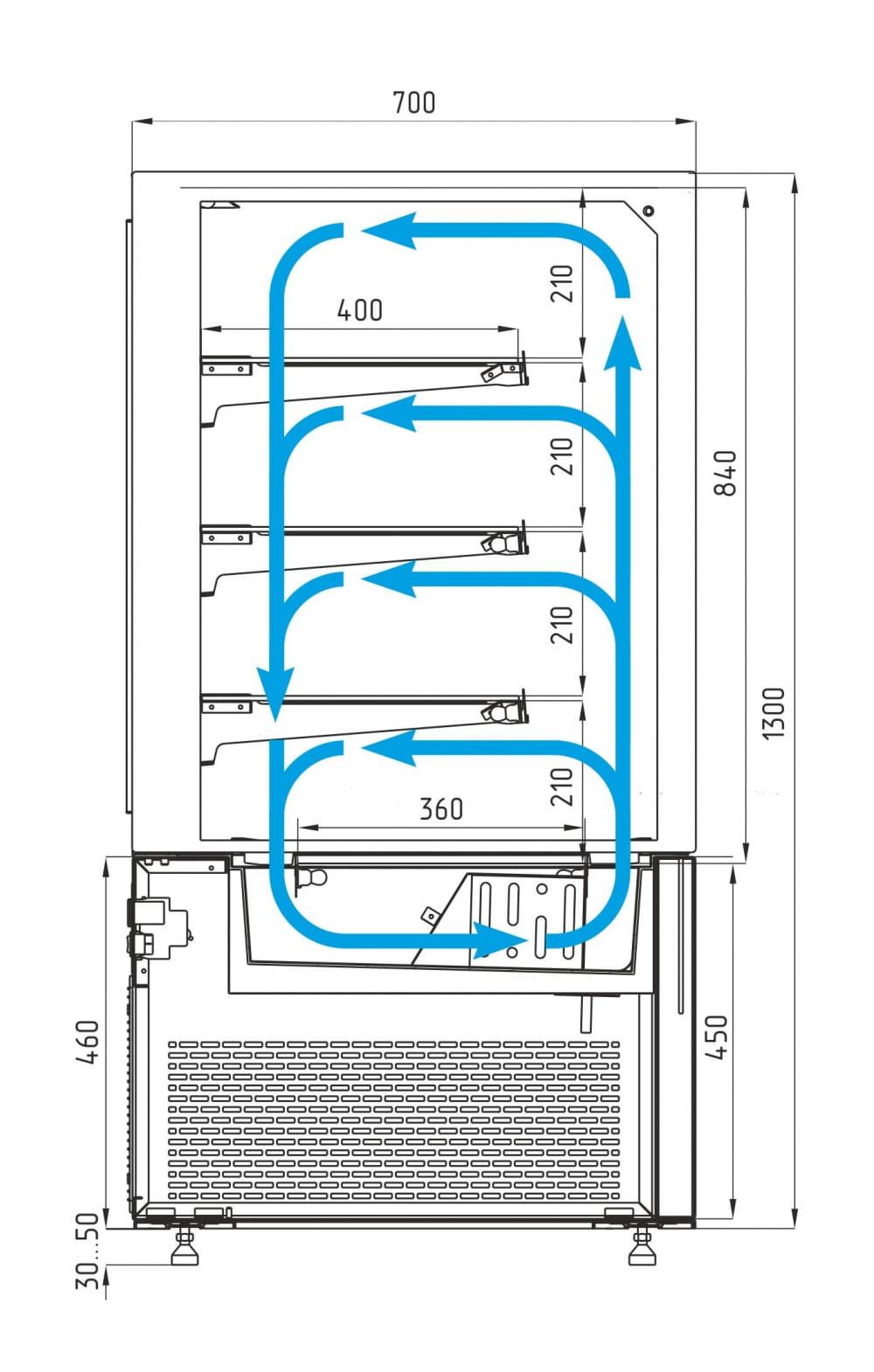 Кондитерская витрина CARBOMA COSMO KC71-130VV1.2-1BUILT-IN - 3