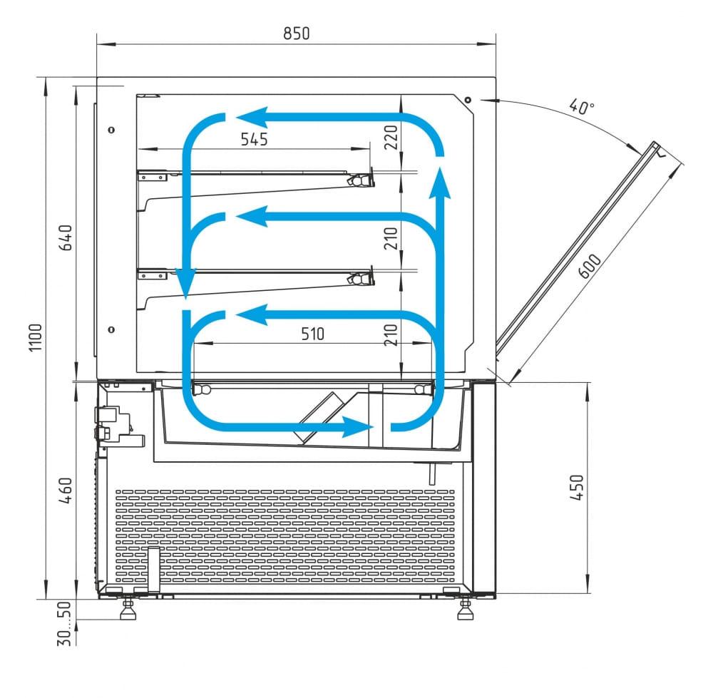 Кондитерская витрина CARBOMA COSMO KC84-110VV1.5-1 - 8