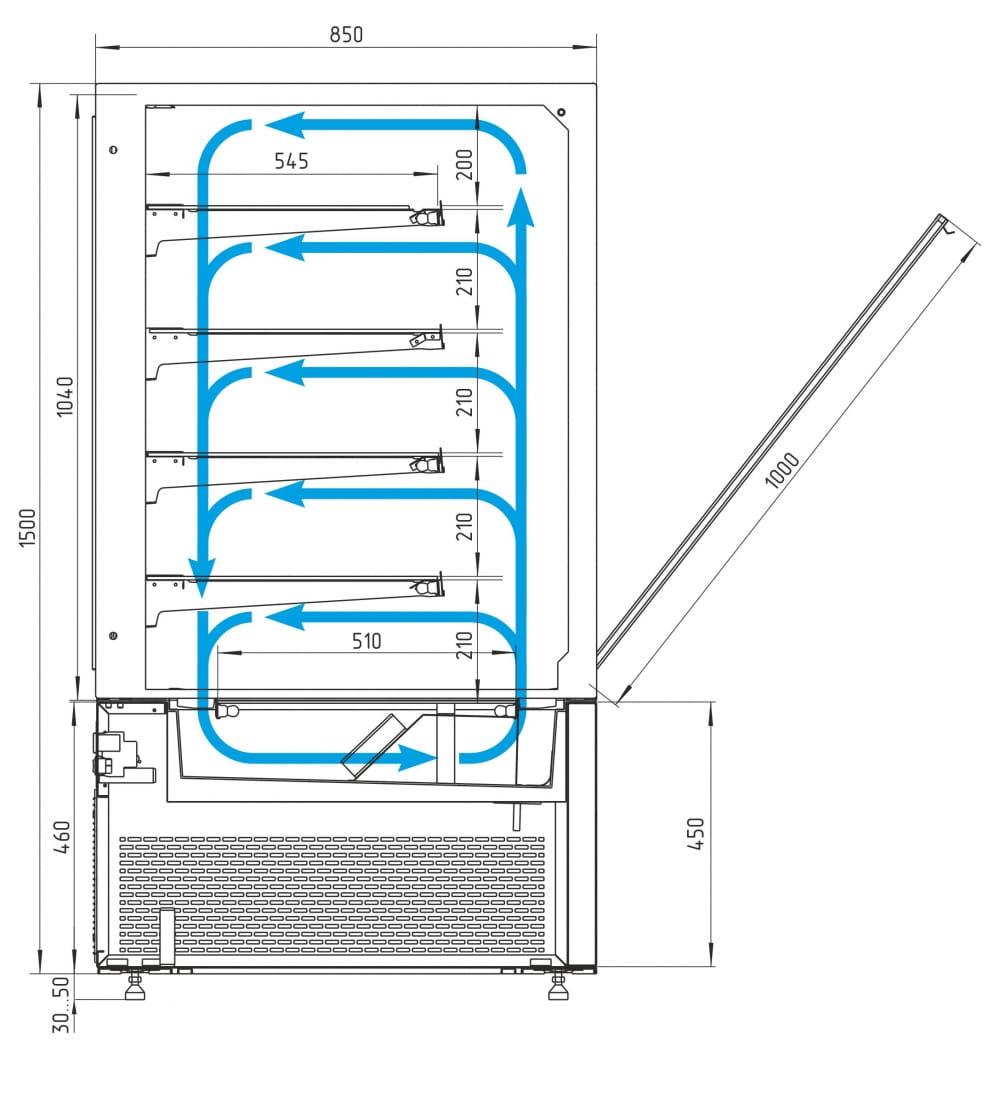 Кондитерская витрина CARBOMA COSMO KC84-150VV1.5-1 - 7