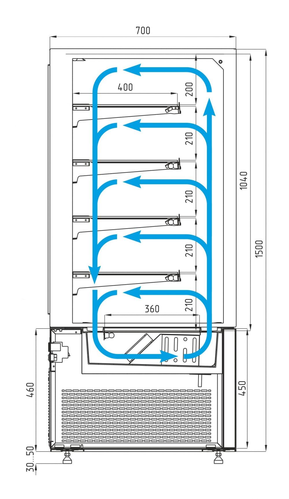 Кондитерская витрина CARBOMA COSMO KC71-150VV1.2-1 - 5