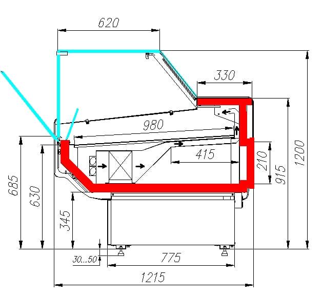 Холодильная витрина CARBOMA ATRIUM 2 GC120VM1.25-1 - 6