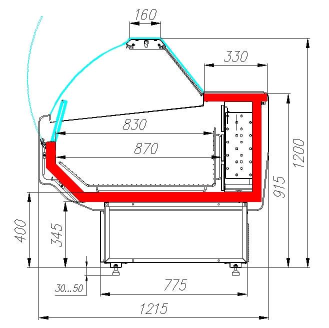 Морозильная витрина CARBOMA ATRIUM G120SL1.5-1 - 6