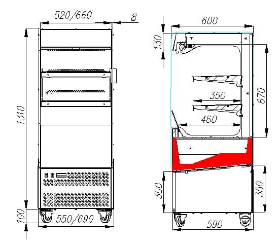 Холодильная горка CARBOMA VIVARA FC 14-06 VM 0.6-2 0430 - 3
