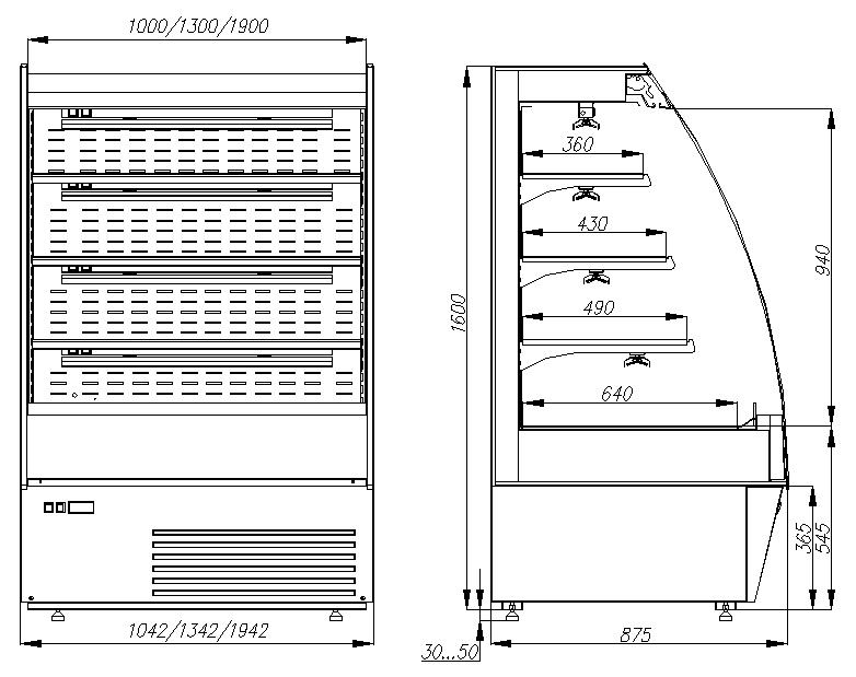 Комбинированная горка CARBOMA 1600/875 ВХСп/ВТ-1.3 TOKYO (F16-08VM/SH1.3-2) - 2