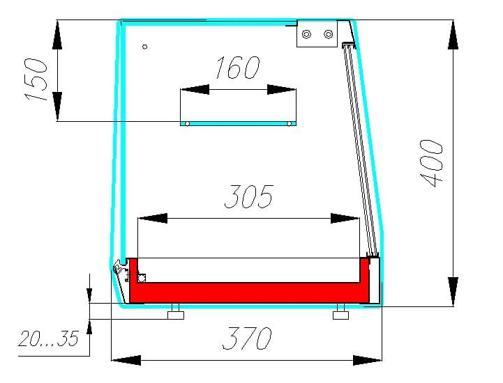 Холодильная витрина CARBOMA CUBE BAR AC37SM1.8-11 - 2
