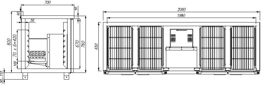 Холодильный стол CARBOMA T70M4-10430(4GN/NT) - 1