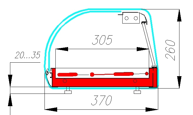 Холодильная витрина CARBOMA ВХСв-1.5 BAR (A37SM1.5-1) - 2