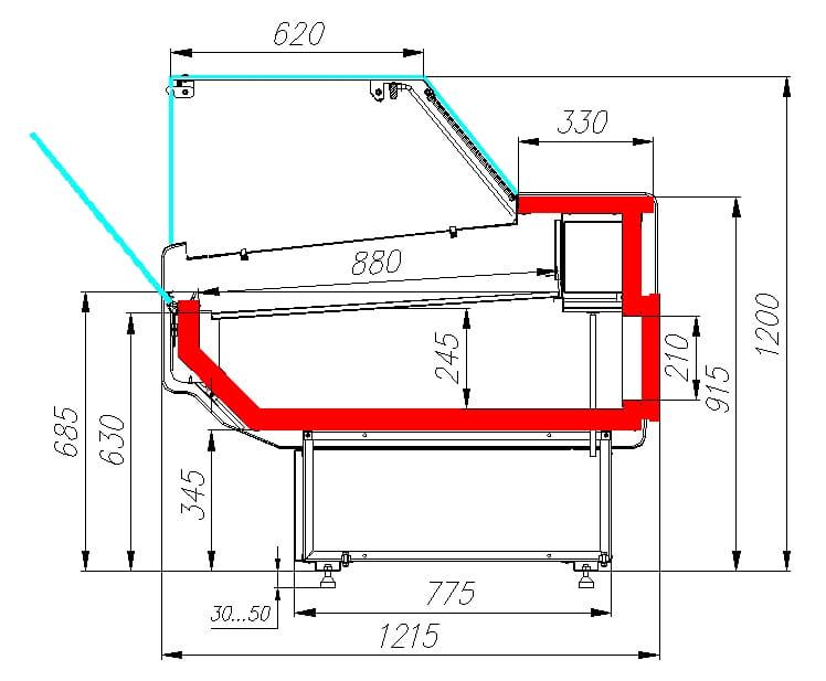 Холодильная витрина CARBOMA ATRIUM 2 GC120SM2.5-1 - 7