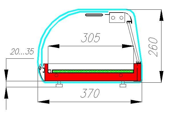 Холодильная витрина суши-кейс CARBOMA ВХСв-1.8 SUSHI BAR (A37SM1.8-1Sushi) - 2