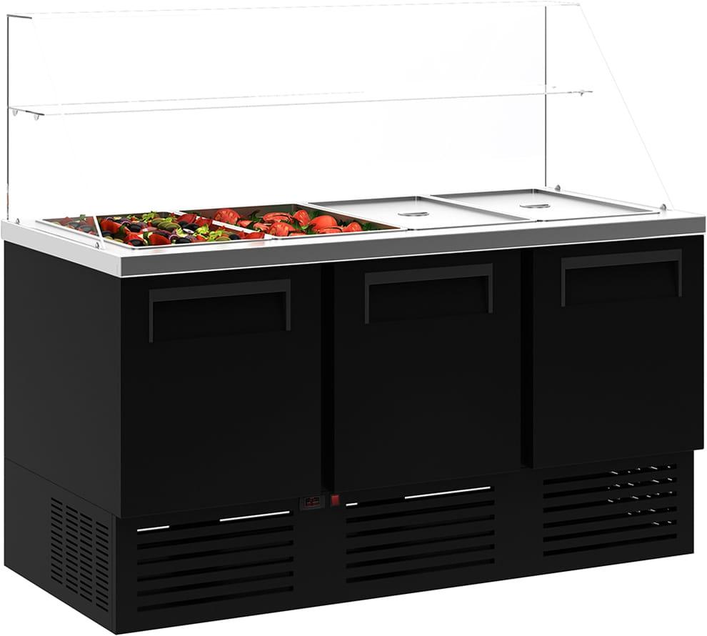 Холодильный стол для салатов (саладетта) CARBOMA T70 M2salGN-2 9006 - 1