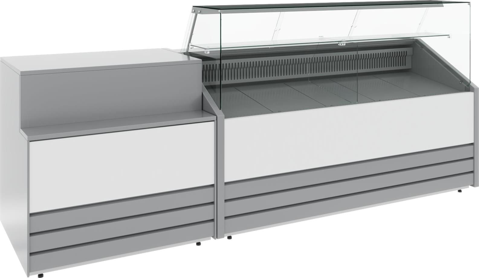 Холодильная витрина CARBOMA COLORE GС75 VV1.8-1 (динамика) 9006-9003 - 15