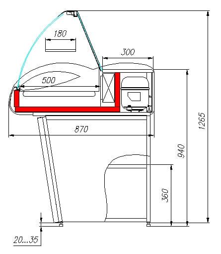 Подставка CARBOMA ARGOA87N1.5-10 - 1