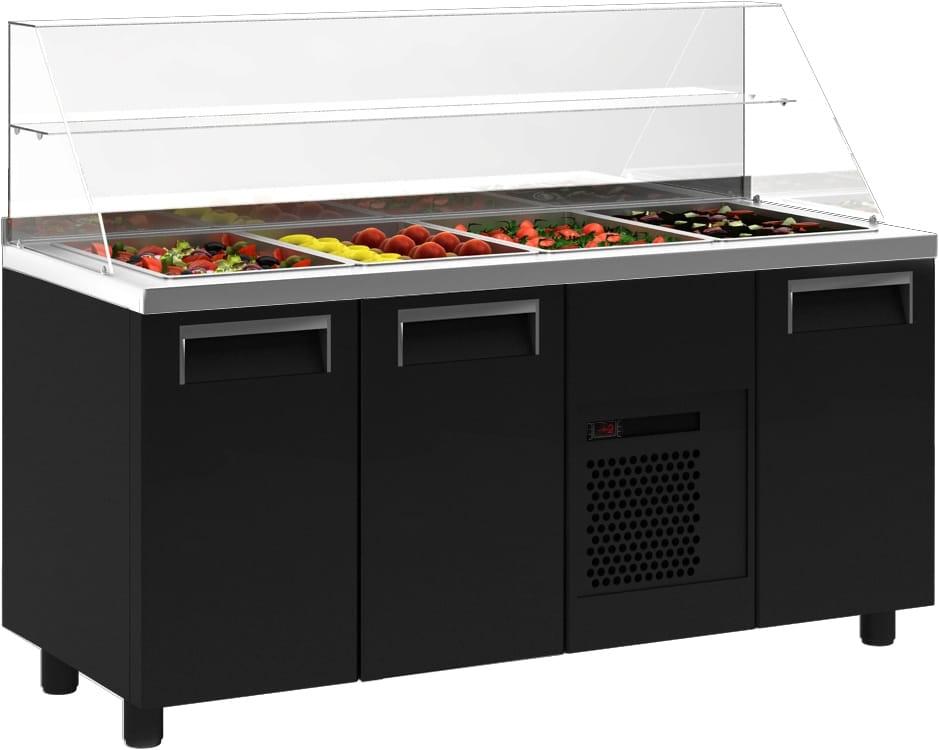 Холодильный стол для салатов (саладетта) ПОЛЮС T70 M2sal-1 9006 (SL 2GN) - 1
