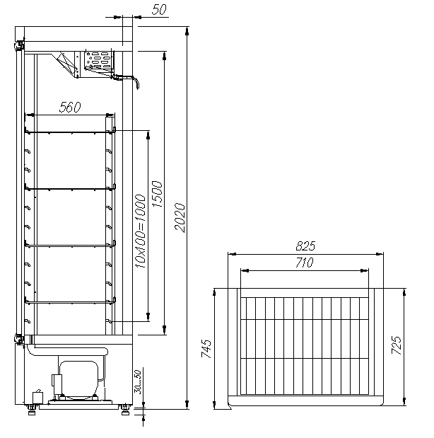 Холодильный шкаф CARBOMAR700С - 6