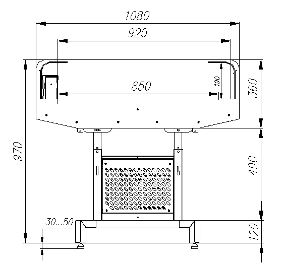 Холодильная витрина CARBOMA FUDZI PI11 VM1.25-29006 - 4