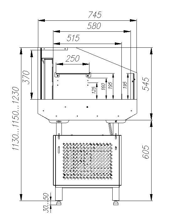 Холодильная витрина CARBOMA ODA PF07-12 VM0.9-29006 - 1