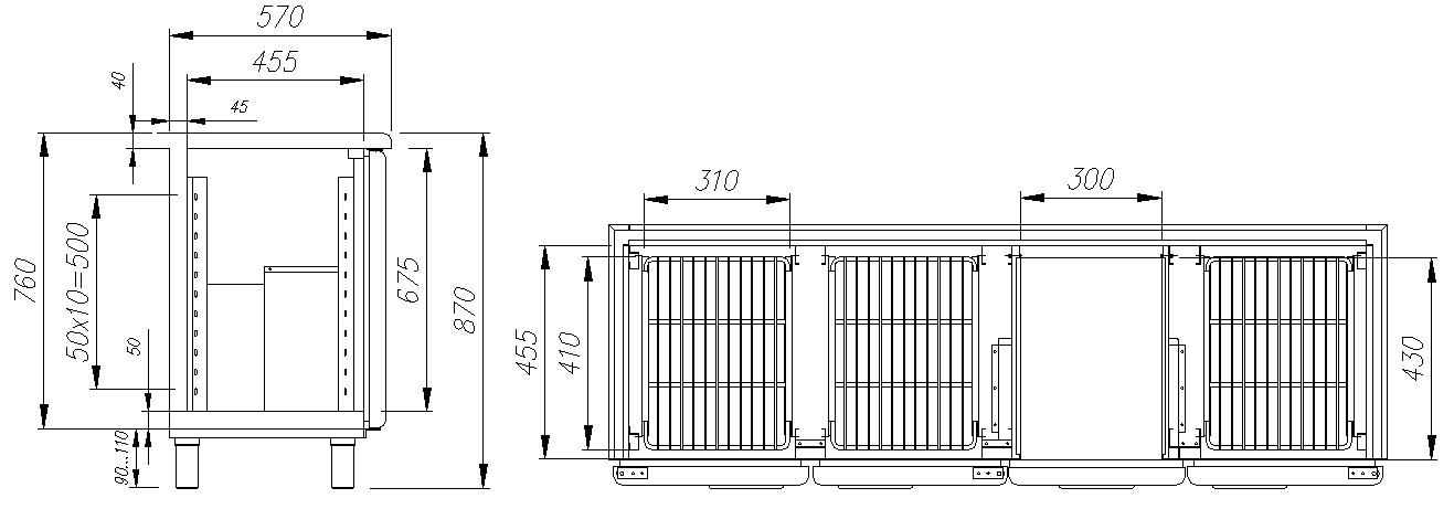 Холодильный стол CARBOMA T57 M3-1 9006 (BAR-360) - 1