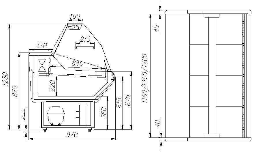 Холодильная витрина CARBOMA ВХСр-1.5 PALM (G95SV1.5-1) - 1