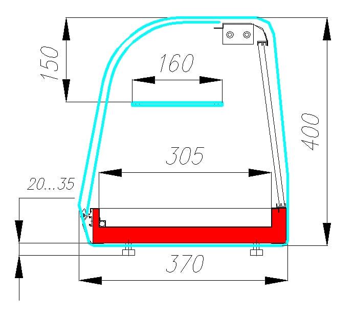 Холодильная витрина CARBOMA ВХСв-1.8 XL BAR (A37 SM 1.8-11) - 1
