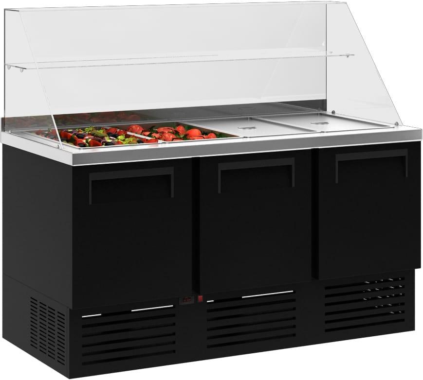 Холодильный стол для салатов (саладетта) CARBOMA T70 M2salGN-2 9006 - 2