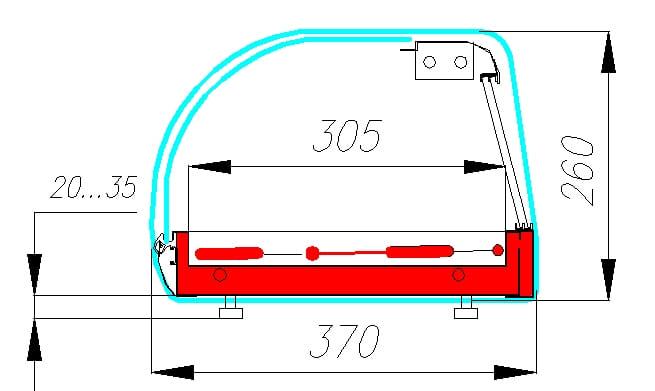 Тепловая витрина CARBOMA A37 SH 1.5-1 (ВT-1.5) - 1