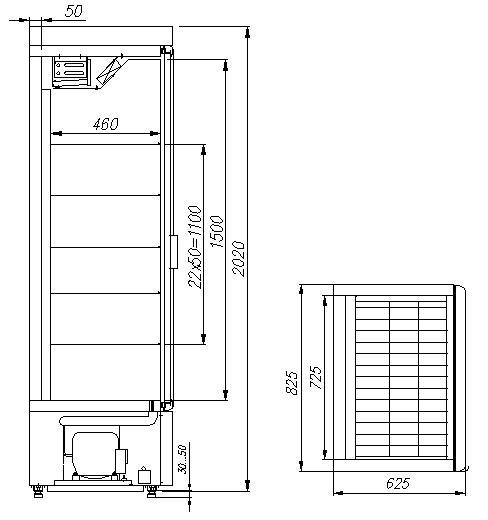 Холодильный шкаф CARBOMAЛЮКС R560 Св - 5
