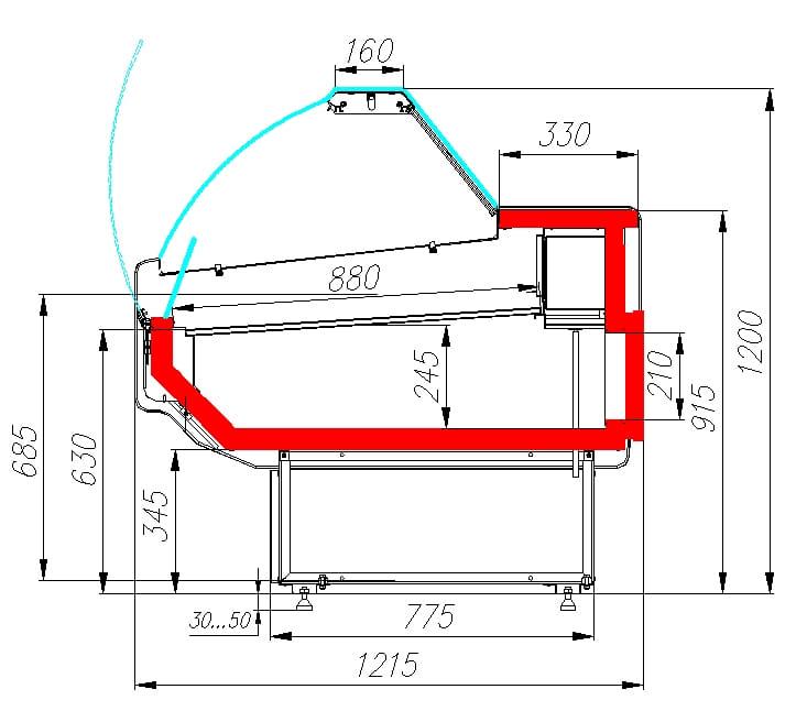 Холодильная витрина CARBOMA G120 SM 1.25-1 - 5