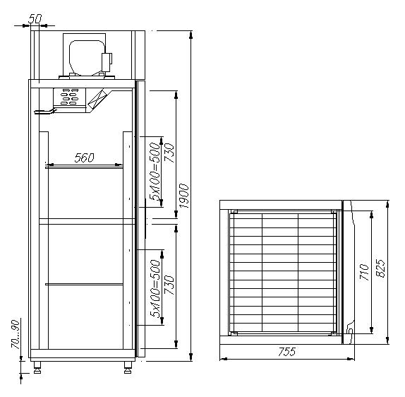 Комбинированный шкаф CARBOMA RF700 INOX - 1
