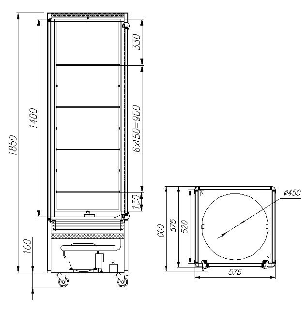 Кондитерская витрина CARBOMA R400Cвр (D4VM400-2) - 1