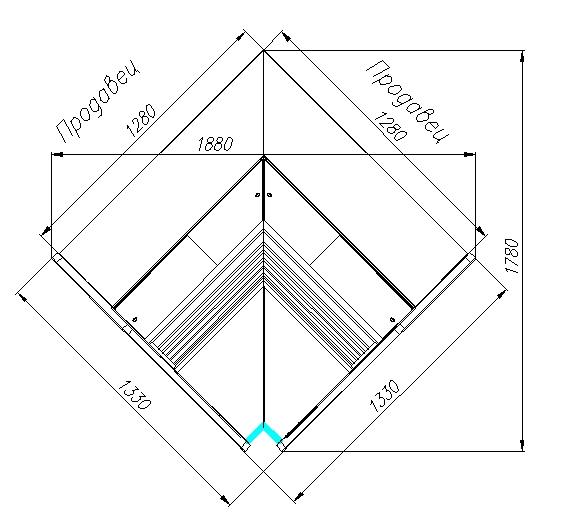 Холодильная витрина CARBOMA ATRIUM G120VM-6(внутреннийугол) - 5