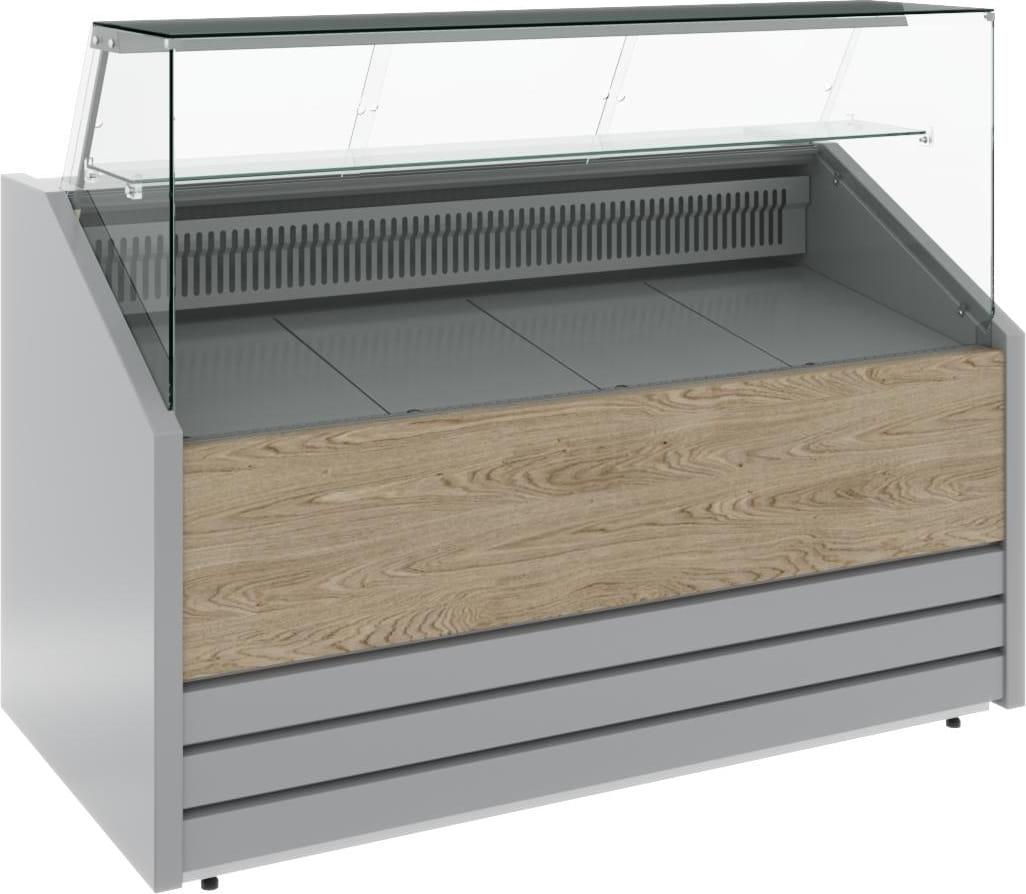 Холодильная витрина CARBOMA COLORE GС75 VM1.0-1 (динамика) 9006-9003 - 7