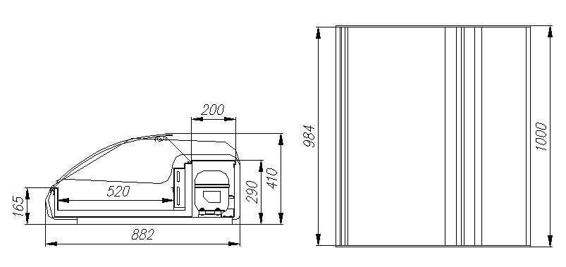 Холодильная витрина CARBOMA ВХСр-1.0 АРГО XL ТЕХНО ARGUS (A89 SV 1.0-1) - 2