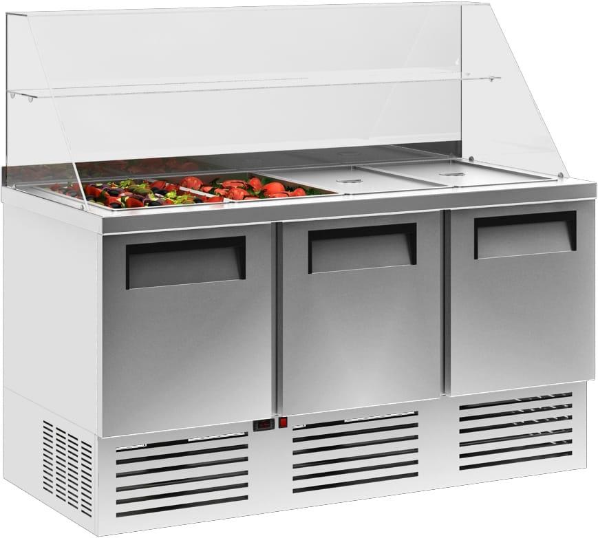Холодильный стол для салатов (саладетта) CARBOMA T70 M3salGN-2 0430 - 2