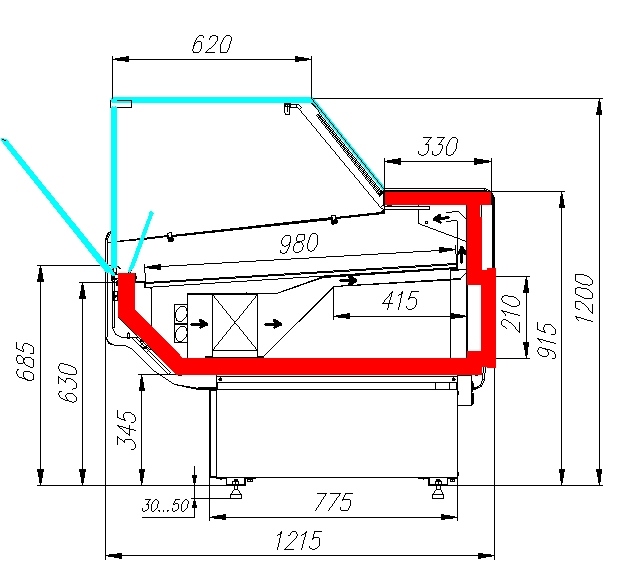 Холодильная витрина CARBOMA ATRIUM 2 GC120VV2.5-13004 - 7