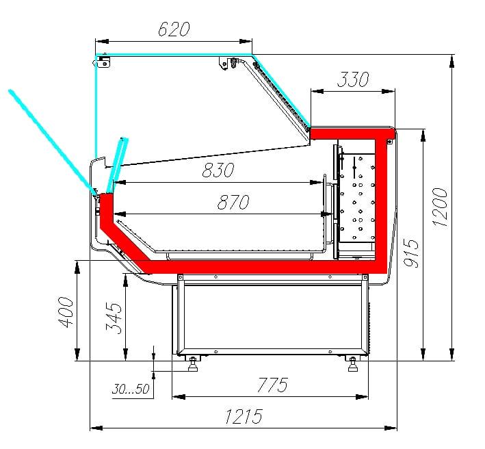Морозильная витрина CARBOMA ATRIUM 2 GC120SL1.25-1 - 7