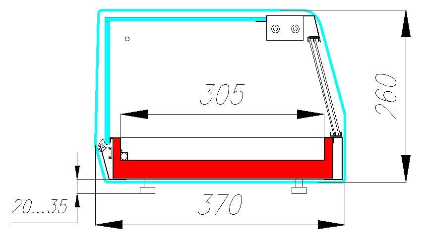 Холодильная витрина CARBOMA CUBE BAR AC37SM1.8-1 - 3