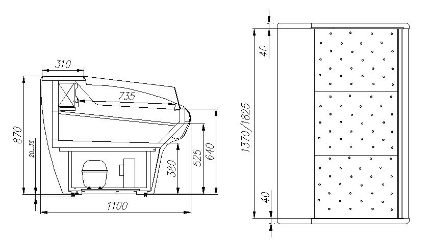 Холодильная витрина CARBOMA ВХСл-1.5 BAVARIA (G110 SP 1.5-2) - 1