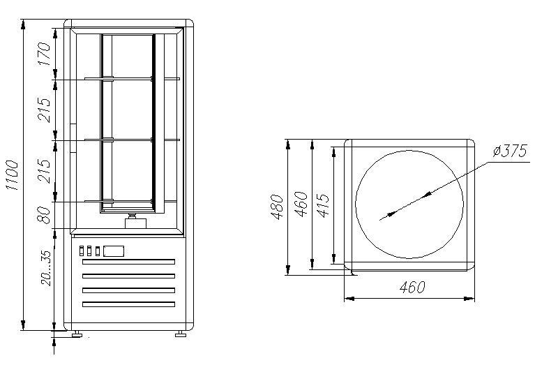 Кондитерская витрина CARBOMA R120Cвр LATIUM (D4 VM 120-2) - 1