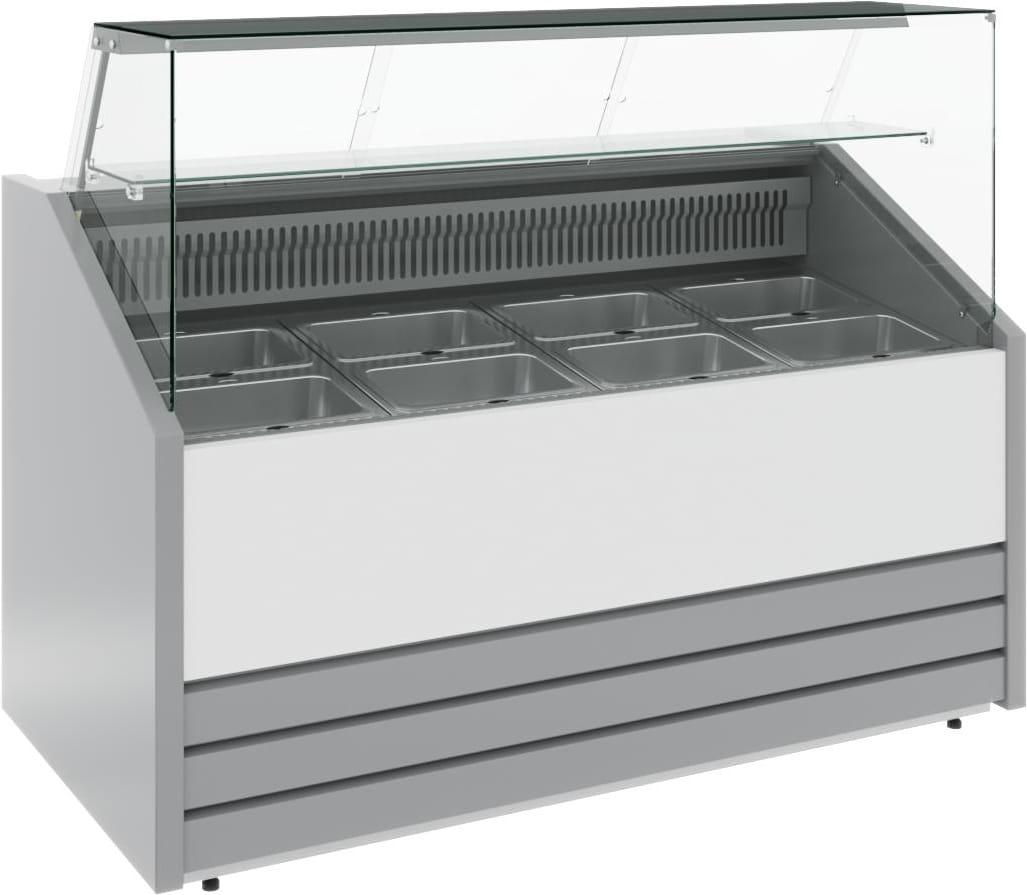 Холодильная витрина CARBOMA COLORE GС75 VV1.0-1 (динамика) 9006-9003 - 1