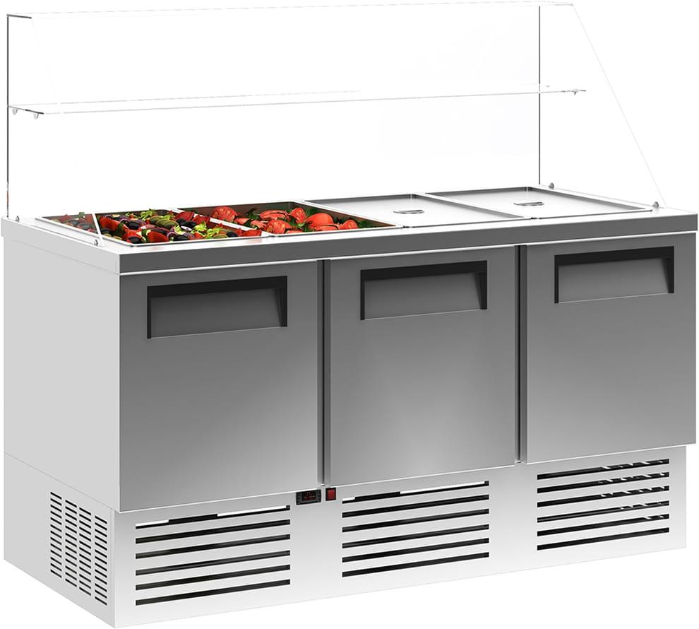 Холодильный стол для салатов (саладетта) CARBOMA T70 M3salGN-2 0430 - 1