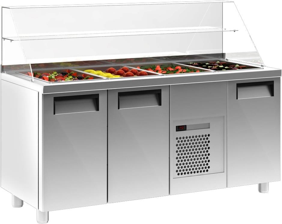 Холодильный стол для салатов (саладетта) CARBOMA T70 M3sal-1 0430 (SL3GN) - 1